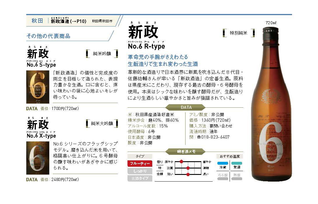 秋田県秋田市に蔵を構える「新政酒造」。嘉永五年(1852年)の創業当時から地元の人に愛され続けている酒蔵です。現在、酒蔵を担うのは8代目・佐藤祐輔さん。革新的な酒造りで、日本酒界で注目されている人物の一人です。「No6」は、そんな今を時めく蔵人を生み出した新政酒造の定番生酒として知られています。