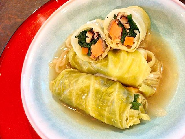 「野菜と鮭のロールキャベツ」│春分の二十四節気発酵レシピ