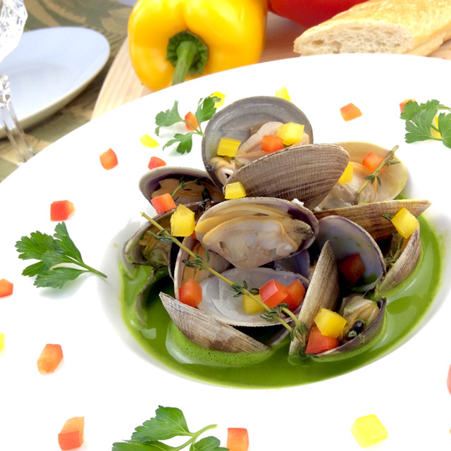 【Steamed clams with spring herb broth】Jay's Hacco-licious Recipes vol.23