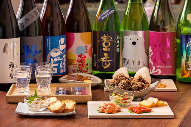 「いぶしかもし酒場Choi」の日本酒飲み比べコース