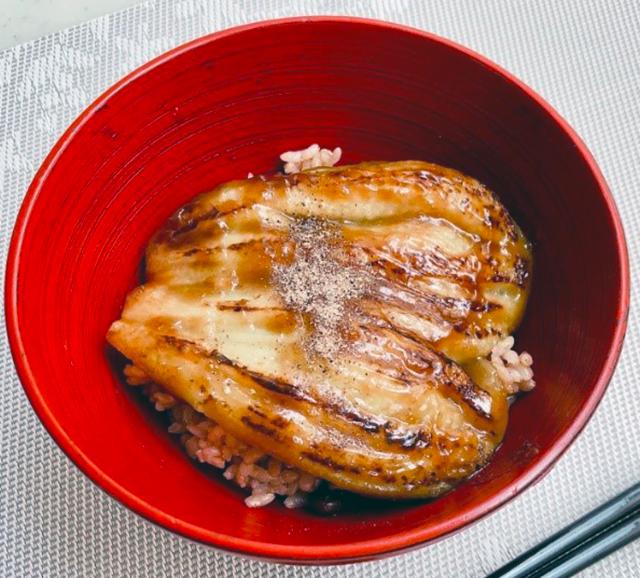 うなぎ風ナスの発酵かば焼き丼
