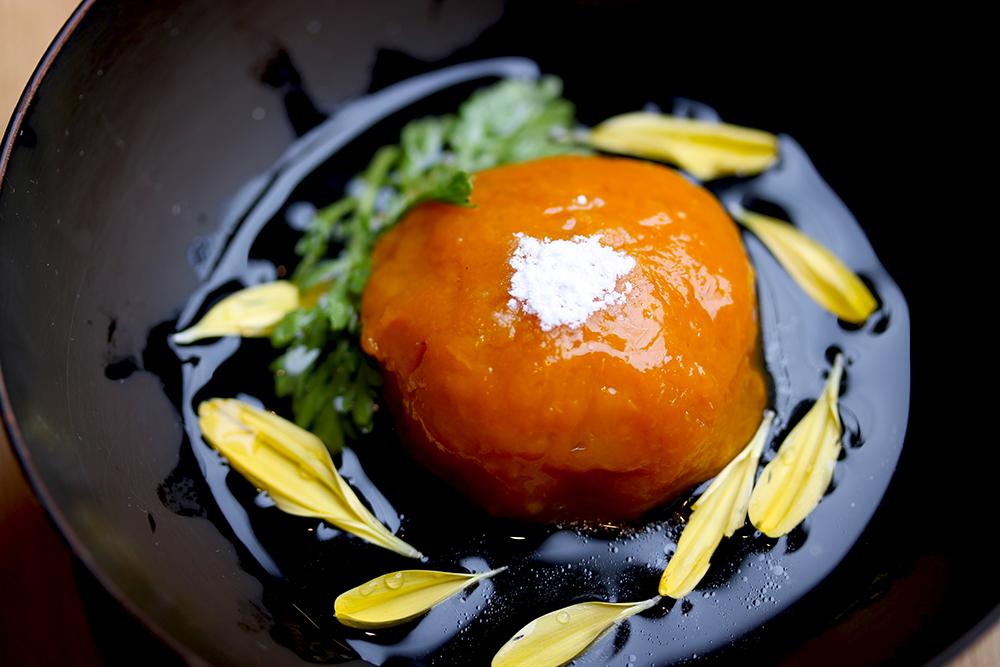 【秋分】に食べたい発酵レシピ『南瓜とつくねの菊花あんかけ お彼岸の夕陽仕立て』