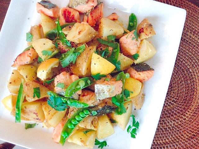 「鮭と春のジャガイモのレモン炒め」│穀雨の二十四節気発酵レシピ