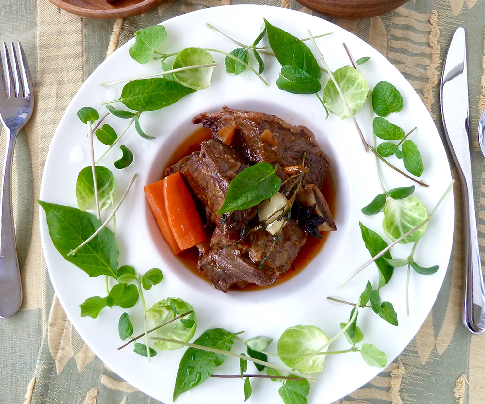 【Sake braised short-ribs with a green wreath】Jay's Hacco-licious Recipes vol.25