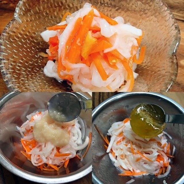 酢麹アレンジレシピ②:「大根と人参の酢麹紅白なます」