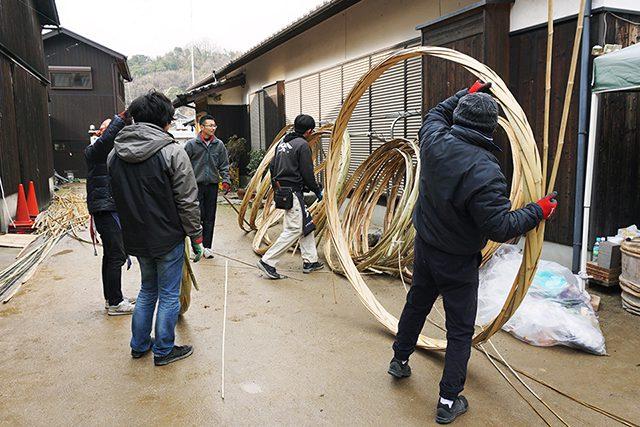 木桶職人復活プロジェクト製作風景