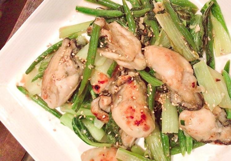「インゲンと牡蠣の炒め物」│立夏の二十四節気発酵レシピ