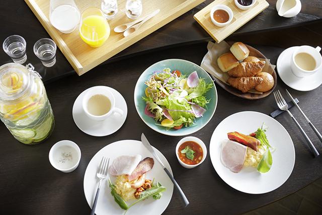 オーベルジュならではの洋朝食