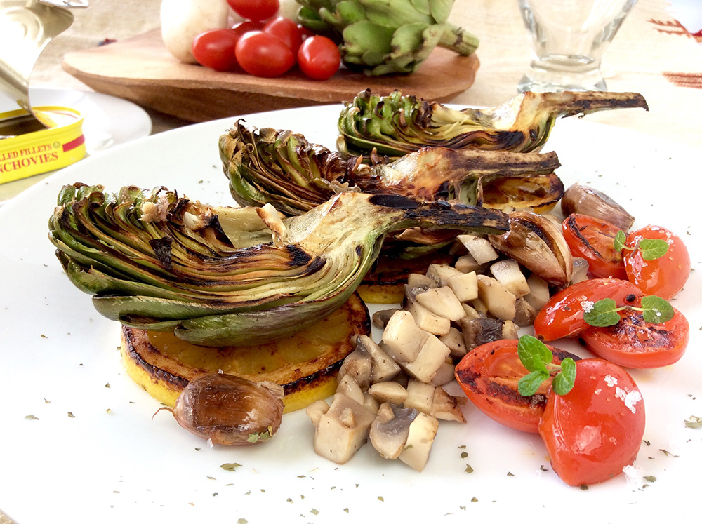 Sautéed artichoke anchovy flavor