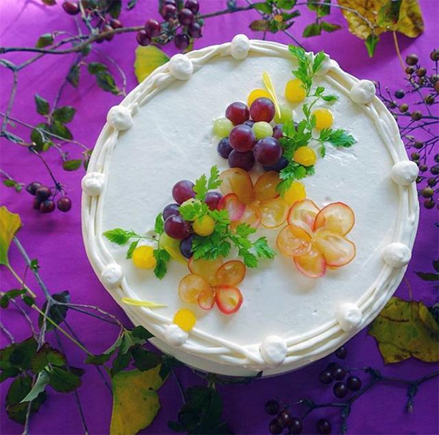 安田さんが作った、南瓜、陳皮、枸杞の実などを使った薬膳ケーキ