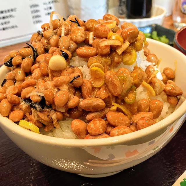 ひじき納豆とごま納豆