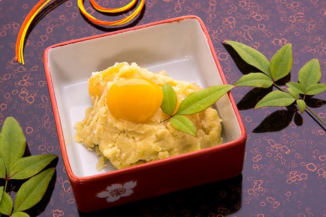 【置き換え発酵レシピ】米粉麹で作る、おせちのさつまいもきんとん