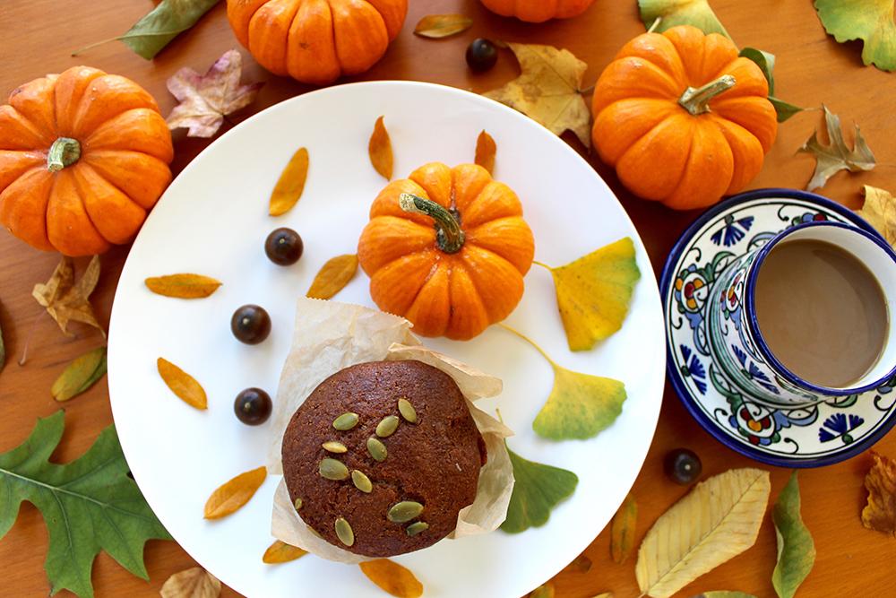 味噌かぼちゃのハロウィンマフィン