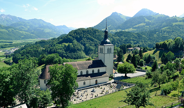 スイスのグリュイエール地方
