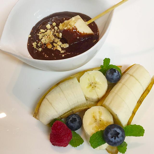 甘麹チョコレートソースとバナナ