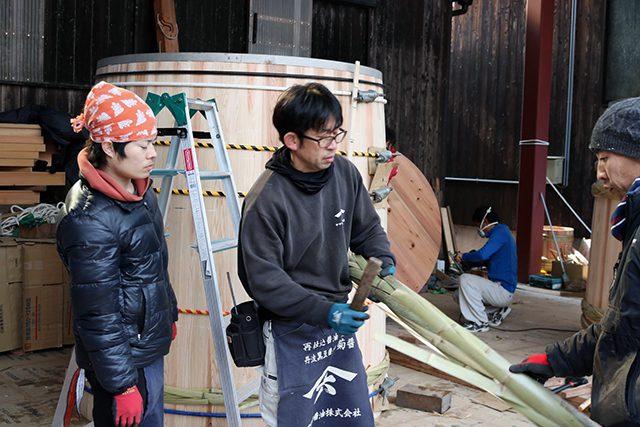 木桶職人復活プロジェクトでの山本康夫さん