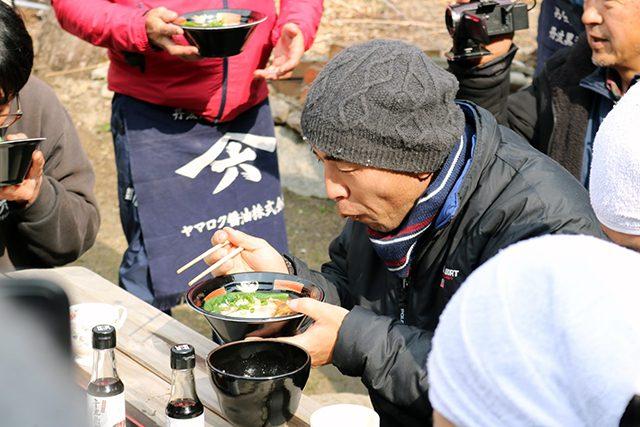 木桶職人復活プロジェクトでのラーメンの昼食