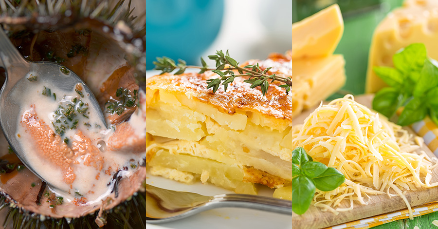 ウニとチーズのポテトグラタン(グラタンドフィノワ)