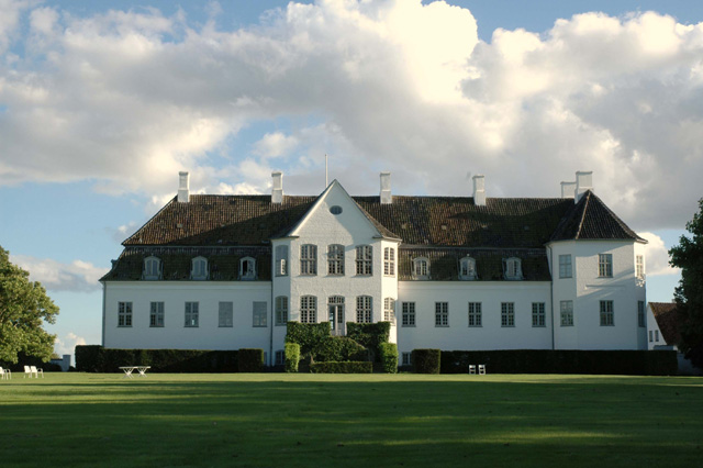 The estate itself has been in existence since 1305, and its main building, seen here, is over 260 years.