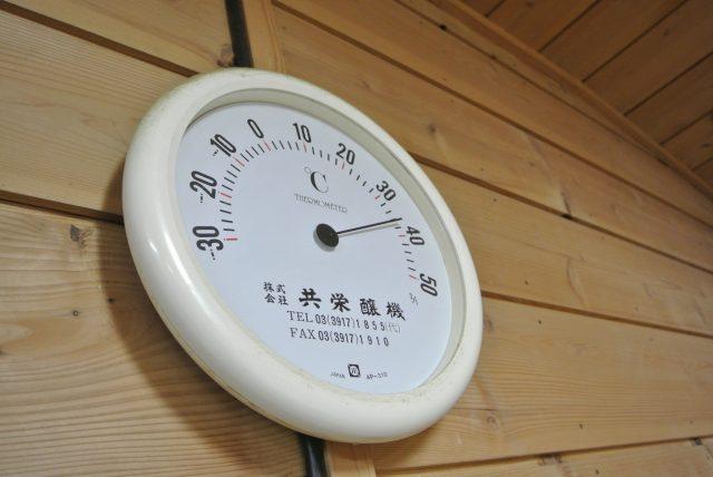 麹が作られる麹室(こうじむろ)。34〜35度前後にキープされた多湿空間。