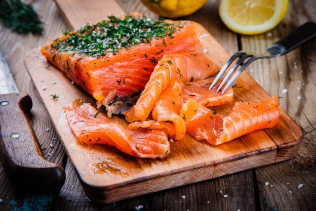 homemades gravlax with dill So Cold I'm Fermenting My Surströmming Off!:haccola Japanese fermented foods and cuisine