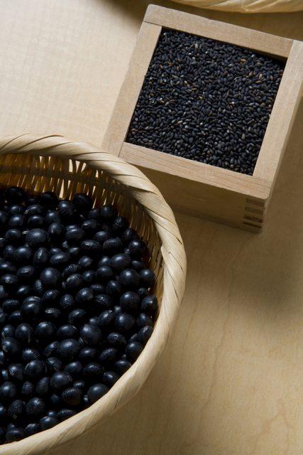 黒豆と黒ゴマ