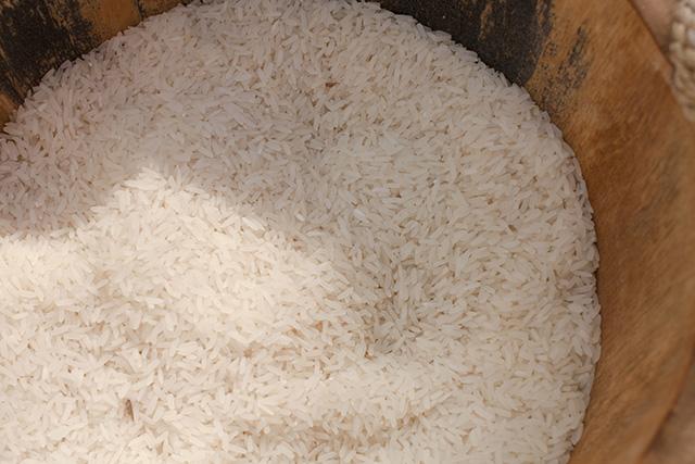 pure white sticky rice
