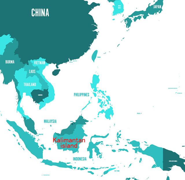 インドネシアのカリマンタン島