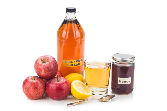 Apple cider vinegar with honey and lemon, natural remedies and cure for common health conditions:Quick and Easy Hacco Recipes, as Enjoyed by Top Models