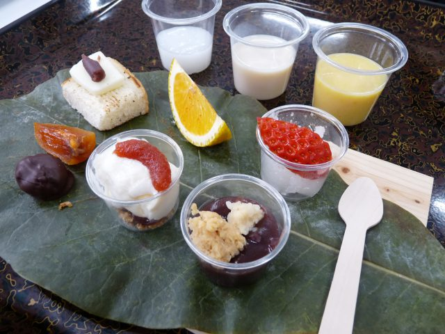 それぞれ一つだけでも話が尽きない一品たちが奥田シェフの手によってあっと驚く組み合わせの至福の発酵御膳となって提供されました。