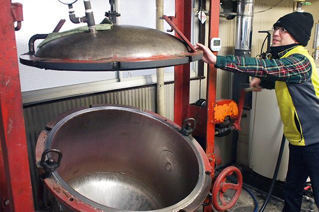 おとめ納豆の蒸し器
