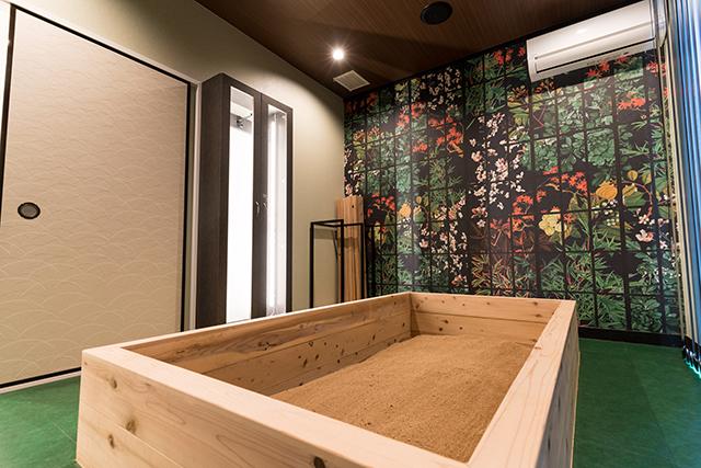 個室浴室:グリーンルーム