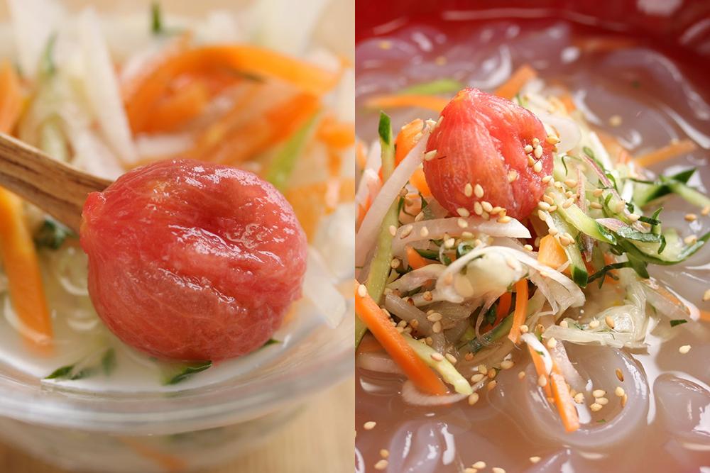 【小暑】に食べたい発酵レシピ『香味野菜とトマトの乳酸水キムチ』