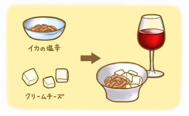 イカの塩辛_クリームチーズ_赤ワイン_【ソムリエに聞く】クリスマス・忘年会・お正月にオススメのワイン&チーズ:発酵ライフを楽しむhaccola(ハッコラ)