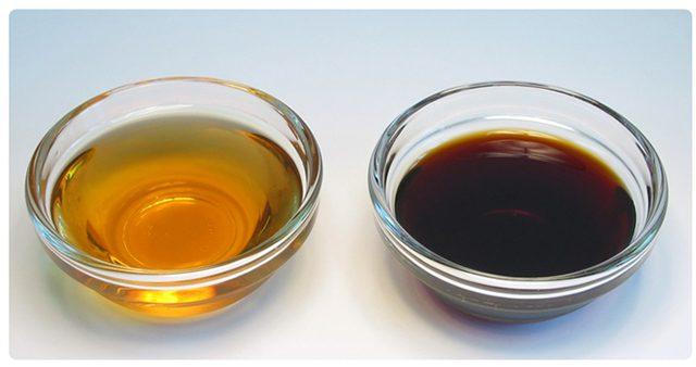 白醤油と濃口醤油の比較