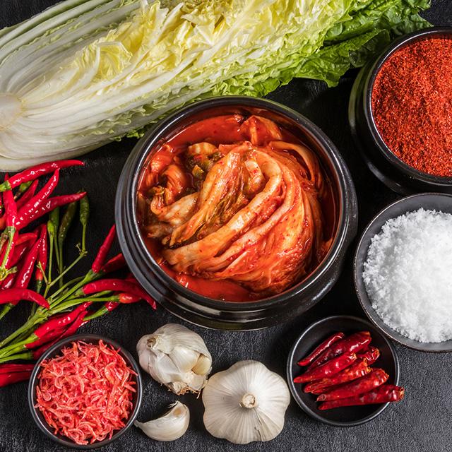 キムチ The kimchi that a Korean pickle is delicious