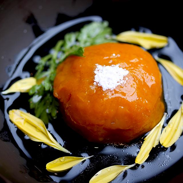 【秋分】南瓜とつくねの菊花あんかけ お彼岸の夕陽仕立て:発酵ワクワク大使の二十四節気レシピ