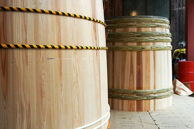 木桶職人復活プロジェクトで造られた新桶
