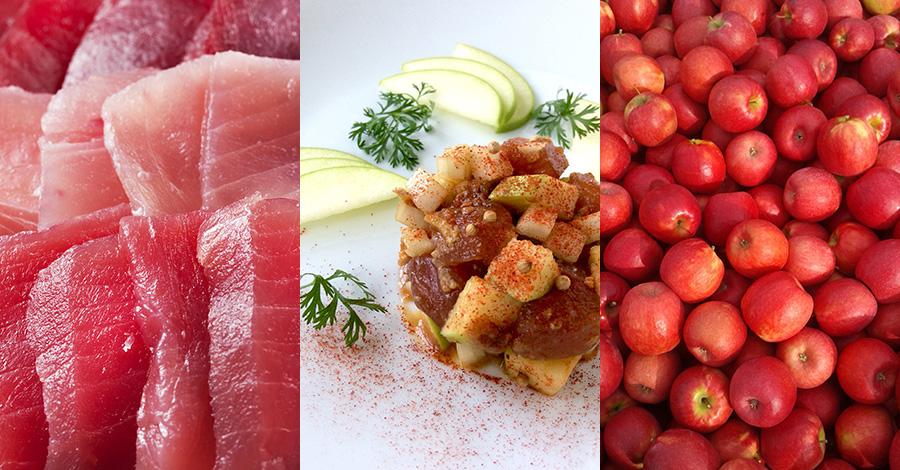 マグロとリンゴのタルタル