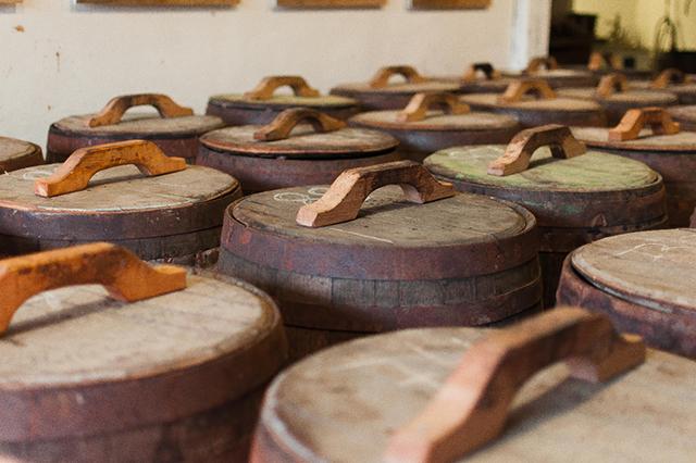 The beautiful whisky barrels