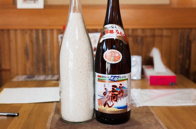 one bottle (1.8L) of Mikawa Mirin is made of the same amount of rice.