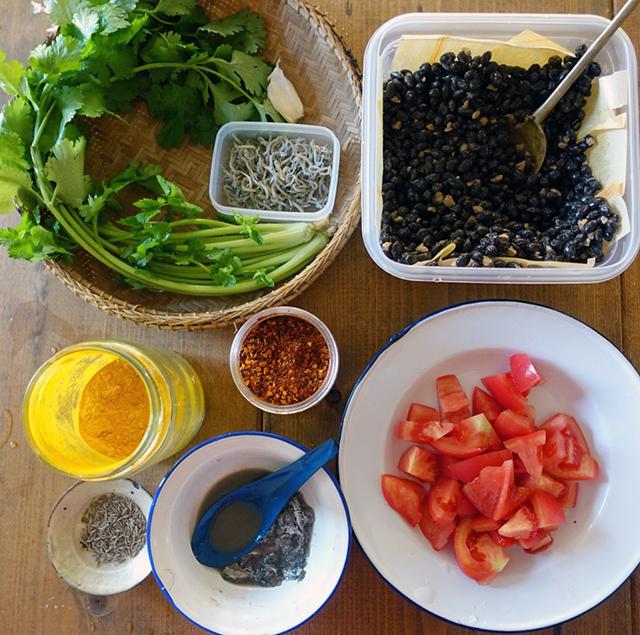自家製トナオのスパイス炒めの材料