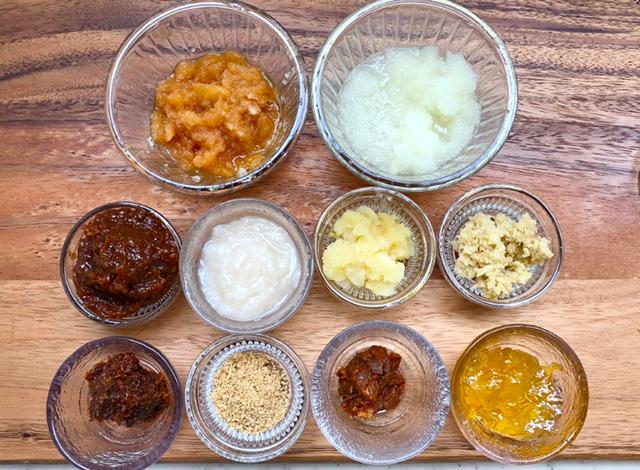 カルビ、スペアリブ、豚バラや豚トロ、ロース肉、チキンの5種類のお肉に合わせた「発酵BBQ(バーベキュー)漬けダレ」レシピ