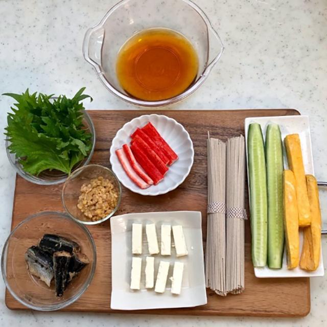 材料(2本分)│節分の開運フード(豆・イワシ・ソバ)が丸ごと入った『発酵恵方巻き』レシピ