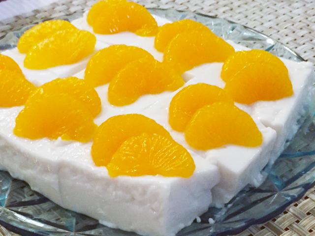 「ココナッツミルクヨーグルトのみかんムース」レシピ