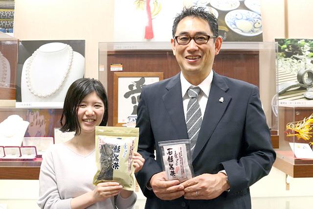 愛媛県東京事務所の峯下さん(右)と井上さん(左)