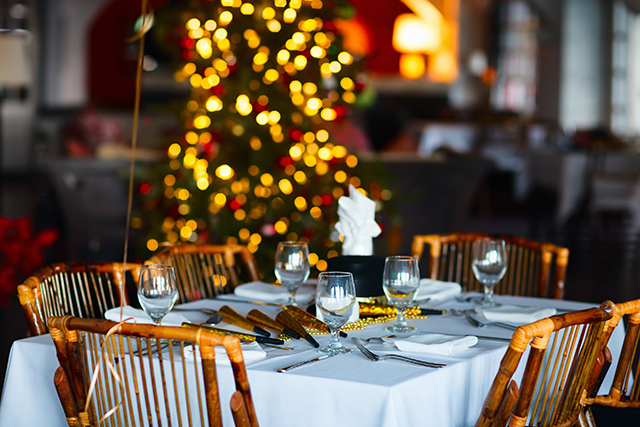 クリスマスのレストラン