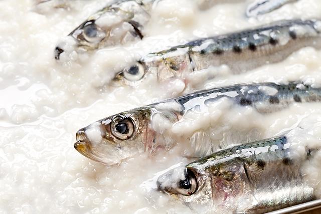 サバ以外の魚でも、塩麹でマリネすると下処理と下味付けが同時にできる