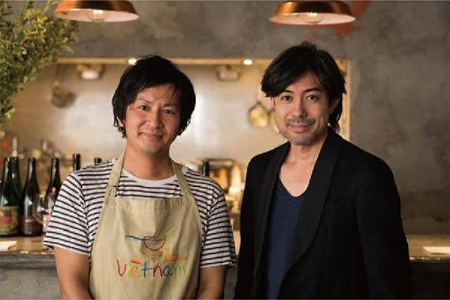ソムリエの大越基裕氏とシェフの内藤千博氏が商品開発に参加